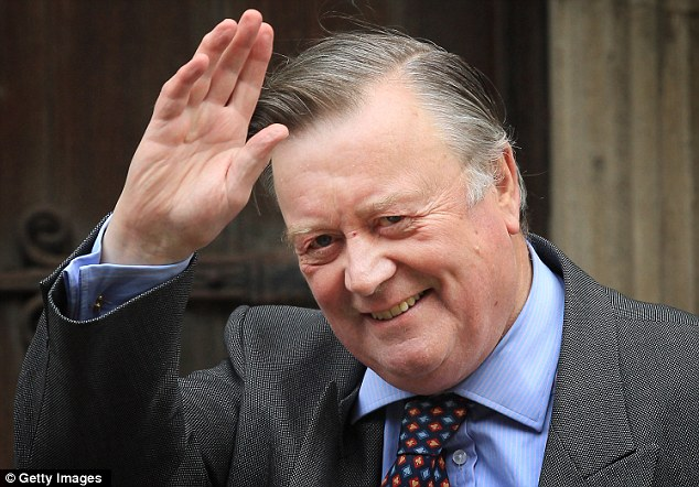 Farewell but not goodbye: Ken Clarke was moved aside as Justice Secretary today but will be staying in the cabinet