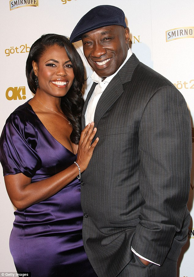 Tragedy: Michael Clarke Duncan with Omarosa in February at a Grammys party
