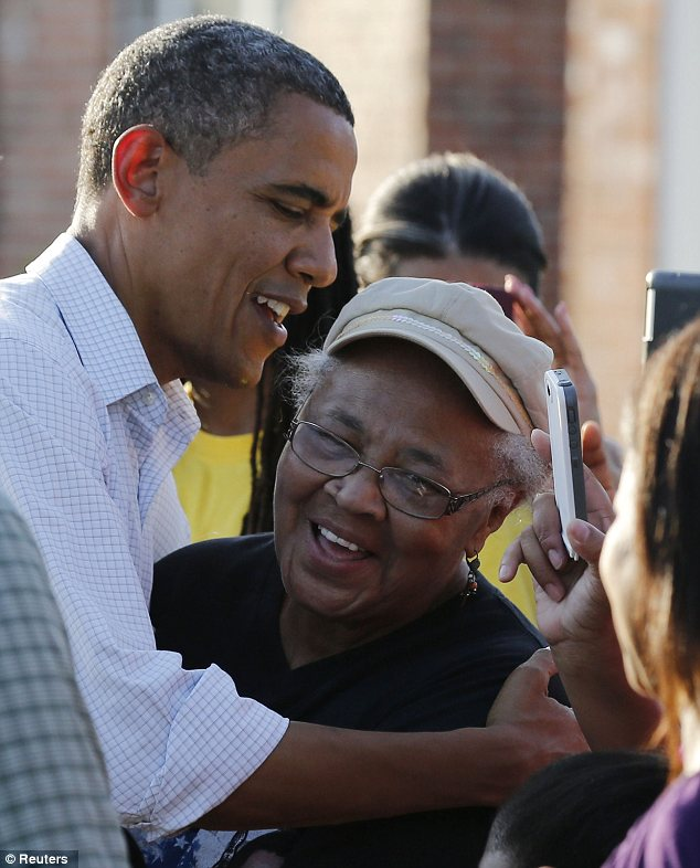Visitor: Many Louisiana residents were delighted to meet Mr Obama during his visit to the state