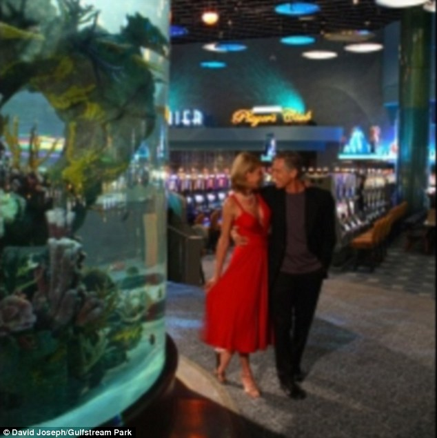 Water world: The 13-foot, 13,000-gallon saltwater fish tank housing more than 100 critters was the centerpiece of the Gulfstream casino