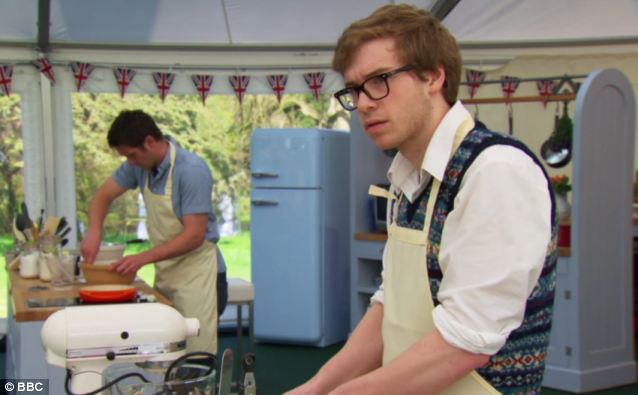 James, 21, is a medical student in Scotland but has more recently become a baking heart-throb