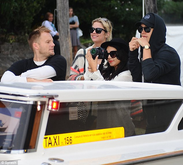 Exploring: The girls' co-star Ashley Benson was seen enjoying the sights with Vanessa earlier in the day