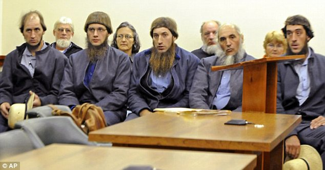 These five men, along with reputed Amish breakaway sect leader Samuel Mullet Sr (right) were arrested by the FBI and local sheriff's deputies last fall on federal hate crime charges