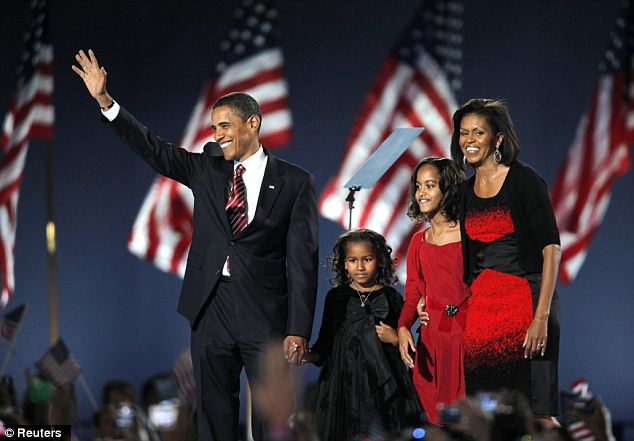 Color coordinated: On election night 2008, it was clear that someone else picked out the girl's outfits. More recently, it appears that the girls have had more of a say in their attire as they begin to experiment