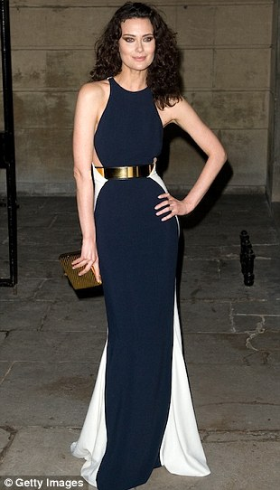 Actress Brooklyn Decker, left, and model Shalom Harlow have worn blue and white versions of the gown
