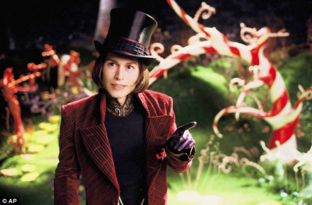 On screen: Johnny Depp played Willy Wonka in Tim Burton's 2005 adaption of the classic children's book