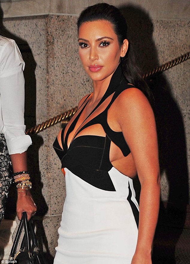 Showing off some side boob: The reality star strutted around the party in a confident fashion
