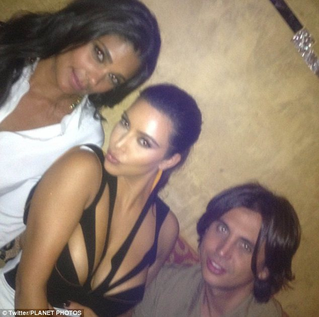 Magazine mates: Kim posted a snap of herself with Jonathan and Rachel Roy on Twitter