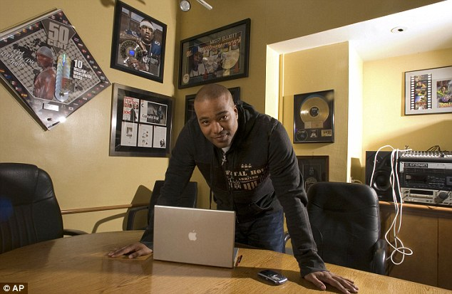 Hip-hop idol: Chris Lighty, pictured in his New York office on February 28, 2007, was found dead in his Bronx apartment last week with a gunshot wound to the head
