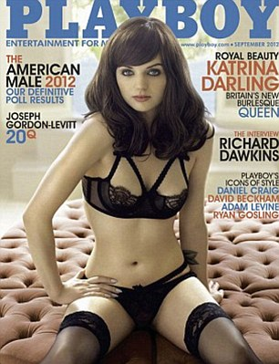 Cover girl: She was paid a six figure sum to pose for this month's Playboy magazine