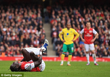 Comeback trail: Bacary Sagna could return within a month