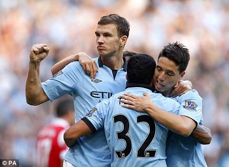 Deserter: Samir Nasri (right) walked out on Arsenal