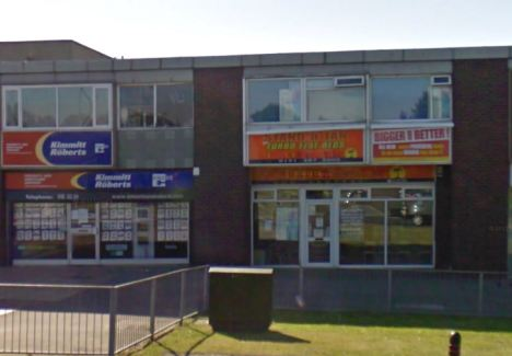 Smith's victim immediately raised the alarm with staff at the shop in Peterlee (pictured) and police went to arrest him