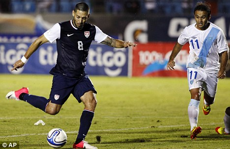 In tears: Clint Dempsey said the row preceding his move to Tottenham was 'tough' to deal with