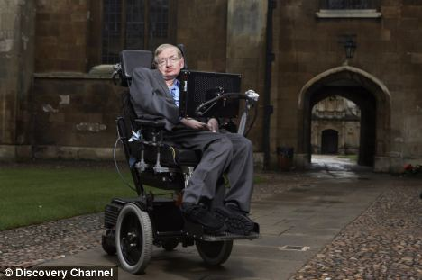 Lord Martin Rees was speaking at a debate for the launch of Professor Stephen Hawking's new show Grand Design. Prof Hawking is pictured