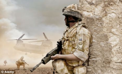 Injury: The soldier the money was being raised for had lost both of his legs in Afghanistan