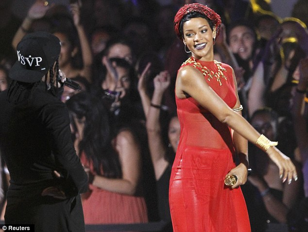 You can look but you can't touch: The 24-year-old singer simply laughed off the rapper's actions