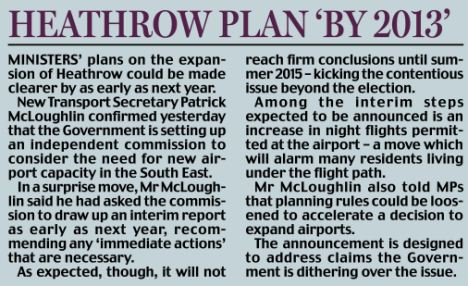 Heathrow plan by 2013
