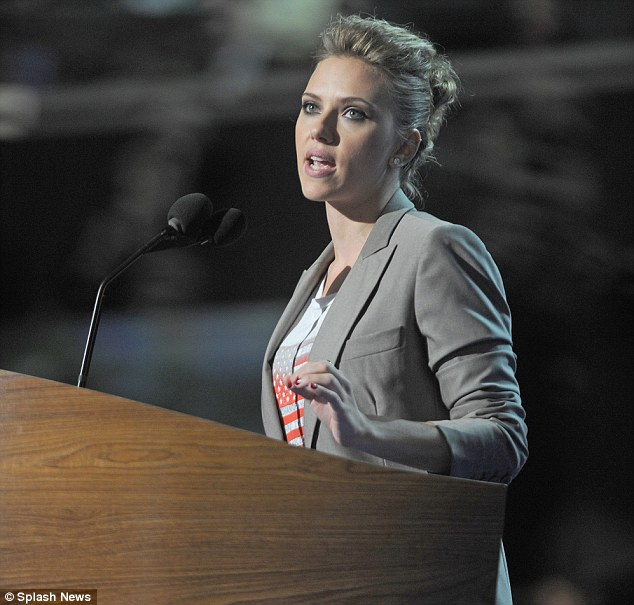Rallying the youth vote: Scarlett Johansson was enlisted to help draw in younger voters