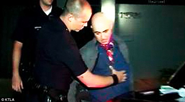Under arrest: Jason Luis Rivera was arrested by LAPD after being found on the property of Miley Cyrus in Studio City last month