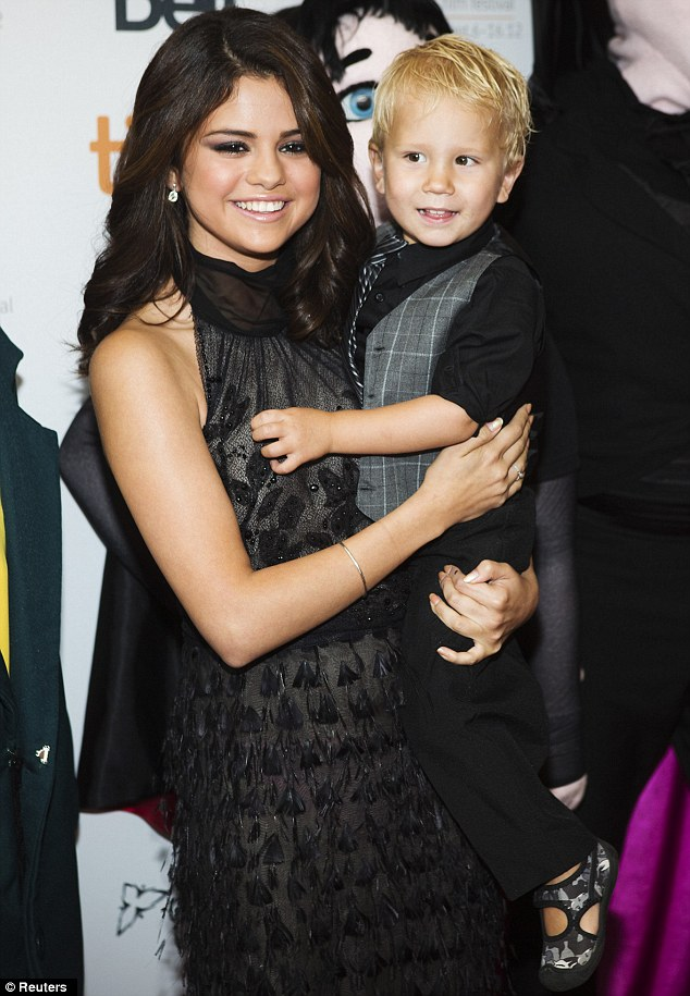 So close: The actress and singer attended the 37th Toronto International Film Festival with the two-year-old