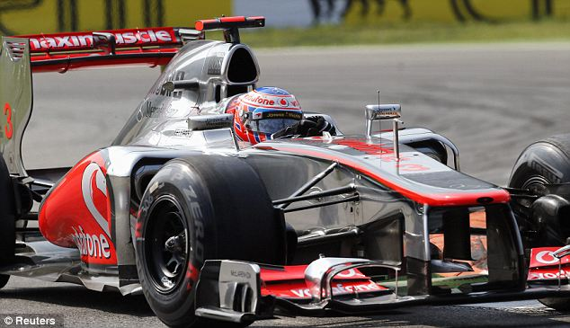 Frustration: Button was set for second place before an engine failure