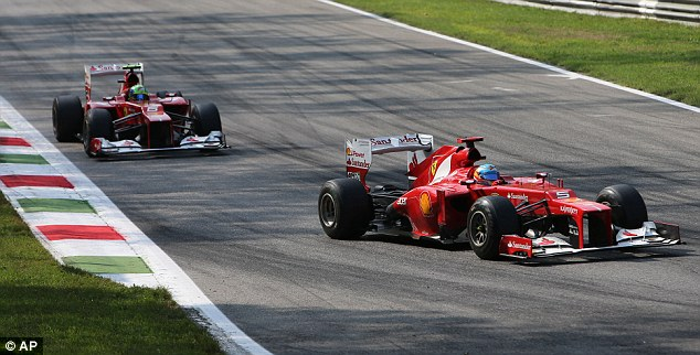 Italian job: Ferrari fans flocked to Monza to support the home team