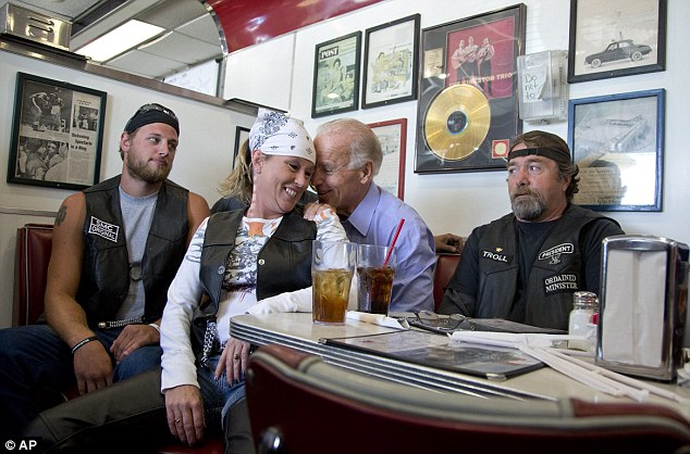 Vice President Joe Biden's talks to customers during a stop at Cruisers Diner today during the Florida campaign trail
