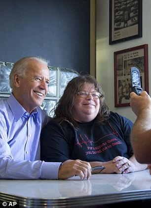 Fans of all ages: His campaigning in Ohio brought Biden face-to-face with a wide range of supporters