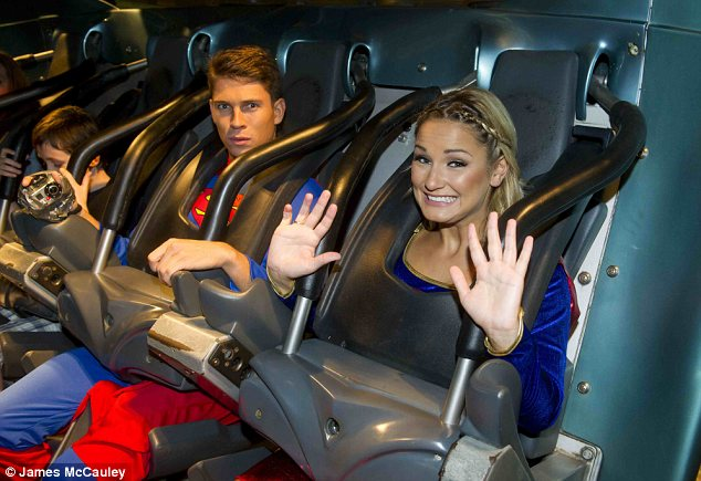 Mixed emotions: Sam appeared scared as she got on the ride but Joey just looked confused
