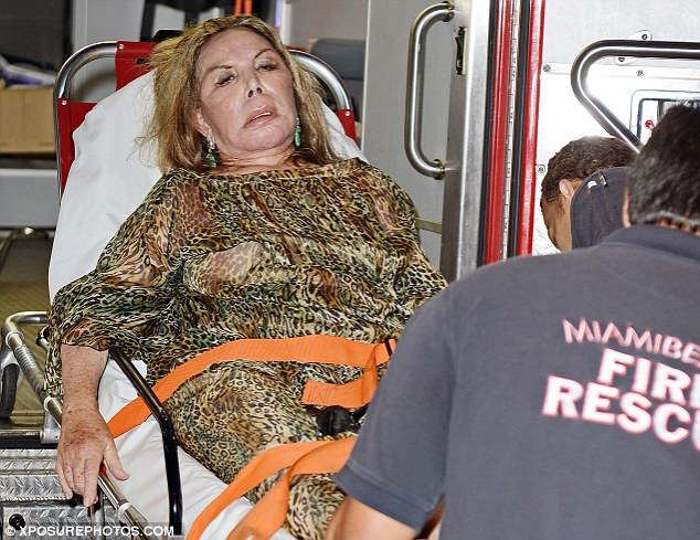 Feeling faint: Elsa Patton collapsed at the premiere party for the Real Housewives of Miami's new series yesterday