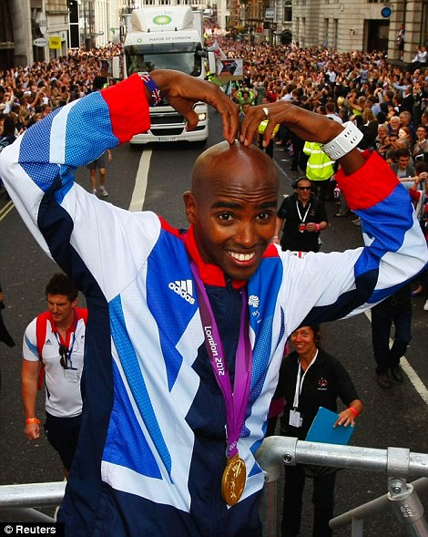 Original and best: Mo Farah does the Mobot