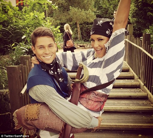 Ahoy there matey! The pair were also seen dressed up as pirates and Sam uploaded a snap to her Twitter page