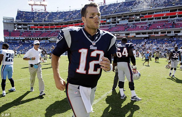 Bright start: Legendary Tom Brady helped the New England Patriots to an easy win
