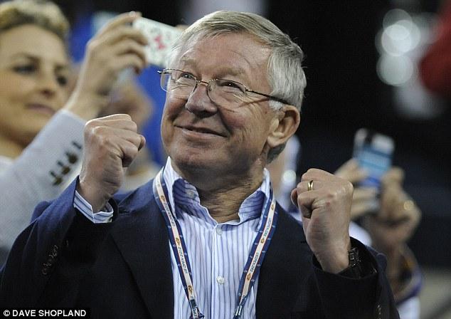 Great Scot: Sir Alex Ferguson cheered on his compatriot on Monday night