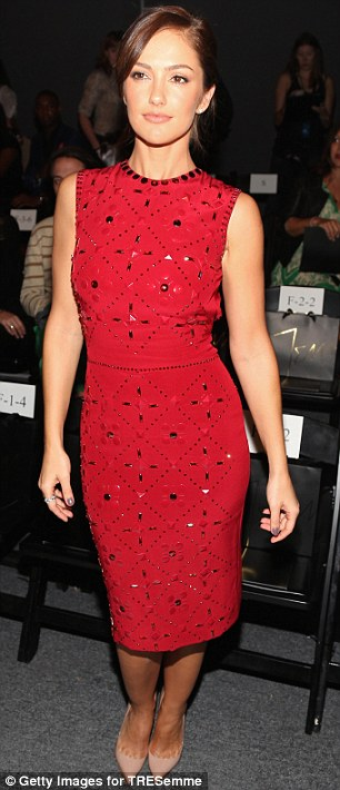 Just heavenly: Former Charlie's Angels actress Minka Kelly attends Jenny Packham's catwalk show at New York Fashion Week