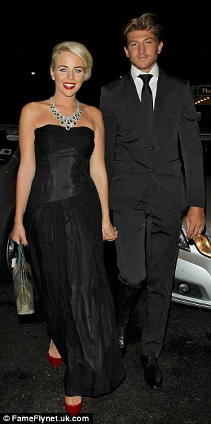 TOWIE twosome:Lydia Bright and Tom Kilbey leave the 2012 TV Choice Awards