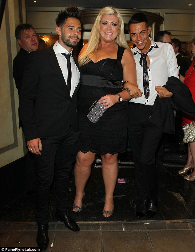 Friends again: Gemma Collins seems to have made up with Charlie King and Bobby Norcross after an explosive row on TOWIE