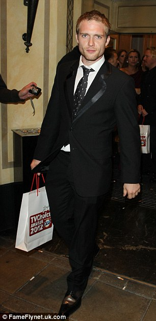 Coronation Street actor Chris Fountain pictured at the 2012 TV Choice Awards