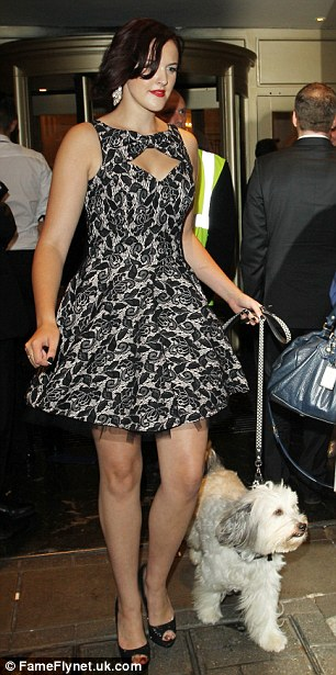 Bed time: BGT winner Ashleigh and her wonder dog Pudsey head home