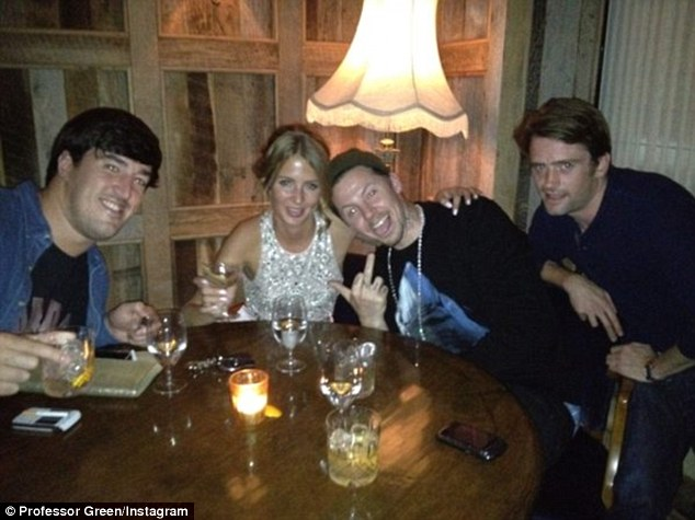 Look at us: Millie and the boys had a fun night out at Mahiki