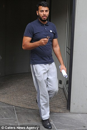 Pictured: Kamran Ajaib, who used Y-fronts to clean his premises, Hamza Poultry Limited in Bristol
