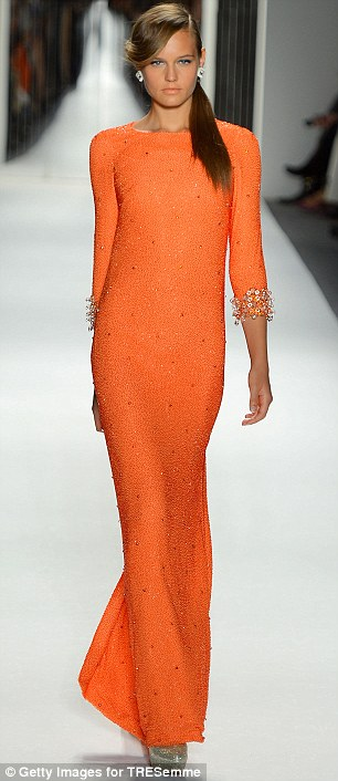 Full length and fabulous: Jenny Packham's unveiled her stylish new designs