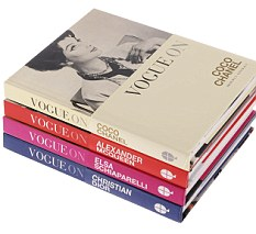Vogue books stack