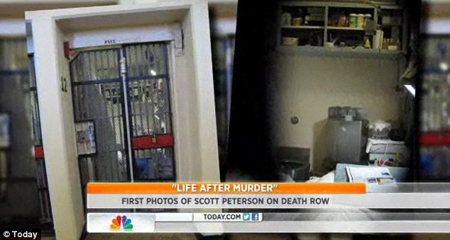 Home: The convicted murderer has his own cell, identical to those pictured, though Nancy was not allowed access inside