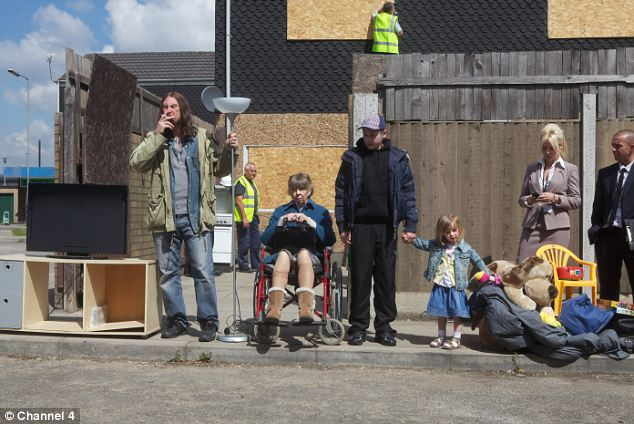 Shameless: Shadsworth residents say the BBC has tried to make their town look like the area featured in the Channel 4 sink estate drama (pictured)
