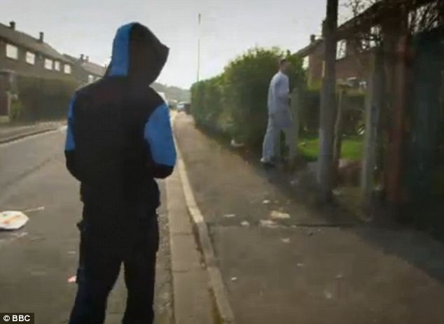 Gritty: A grab from Panorama's Trouble On The Estate investigation, broadcast last night, which purports to give an honest depiction of life on one of Britain's most run down social housing districts