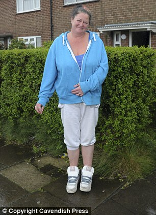 'On the sick': Olwen Page outside her home on Shadsworth Estate