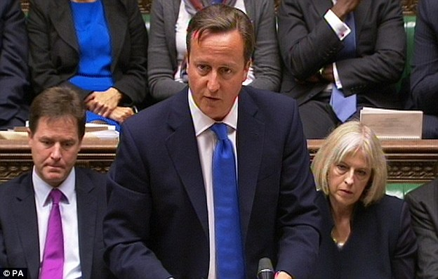 The truth: The Prime Minister made a moving speech in the House of Commons