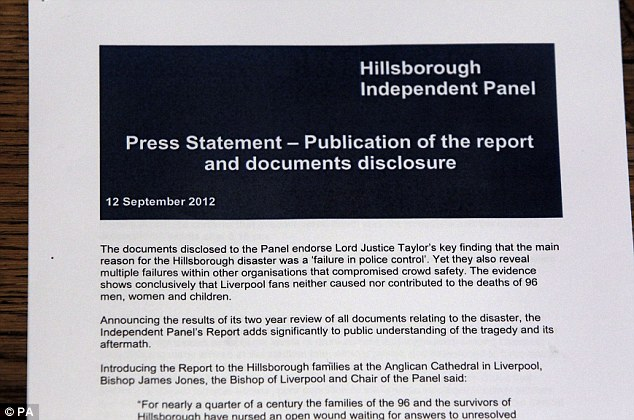 Statement: The Hillsborough Independent Panel make public their findings